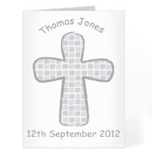 Grey Godparent Card